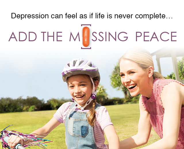 Depression can feel as if life is never complete... ADD THE M[]SSING PEACE